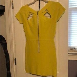 Bcbg yellow dress